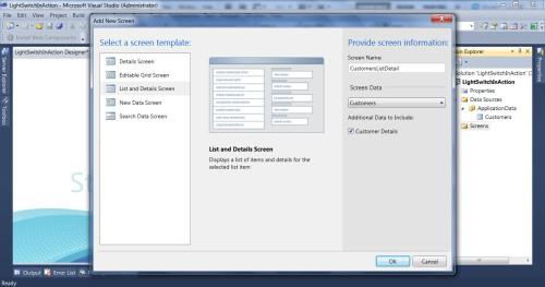 Visual Studio LightSwitch #1: Membuat Project, Database, dan Simple Screen addscreen 4