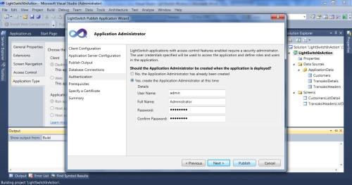 Visual Studio LightSwitch #6: Hak Akses, User dan Login, Fungsi Tambahan admin 4