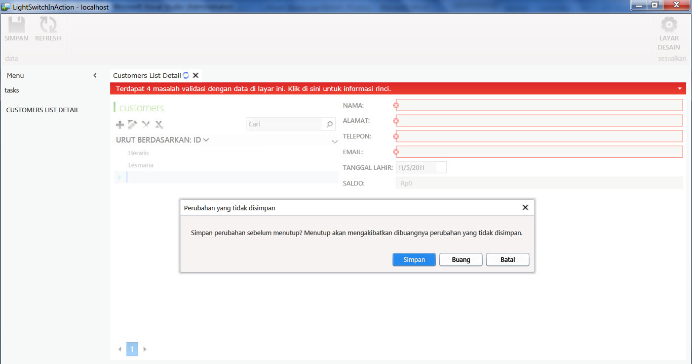 Visual Studio LightSwitch #3: Interface dan Bahasa indonesian 7