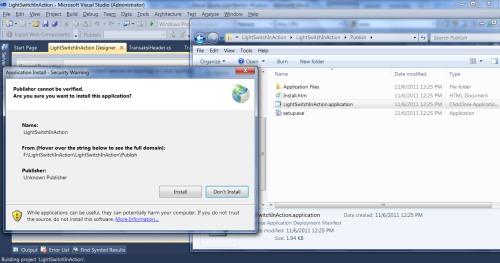 Visual Studio LightSwitch #5: Web - Desktop Switching, Publishing, dan Mekanisme Update installer 5