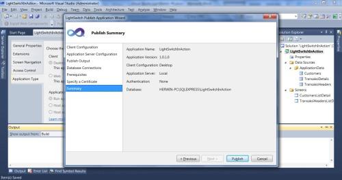 Visual Studio LightSwitch #5: Web - Desktop Switching, Publishing, dan Mekanisme Update newapp 7