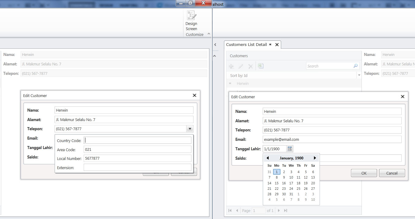 Visual Studio LightSwitch #2: Validasi dan Format Data phoneanddate 4