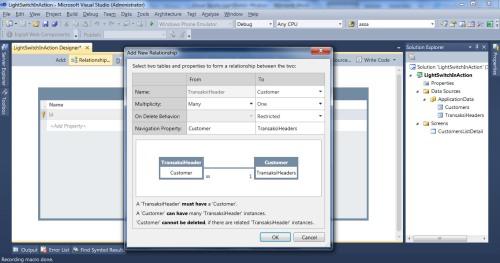 Visual Studio LightSwitch #4: Relasi dan Computed Data relationcustomerheader 1