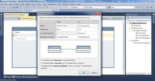 Visual Studio LightSwitch #4: Relasi dan Computed Data relationheaderdetail 3