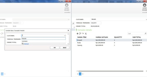 Visual Studio LightSwitch #4: Relasi dan Computed Data transaksi 9