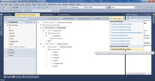 Visual Studio LightSwitch #6: Hak Akses, User dan Login, Fungsi Tambahan writecodel 2