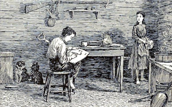 Abe Yang Tak Pernah Menyerah (Abraham Lincoln) bf714 abraham lincoln childhood reading logcabin 1